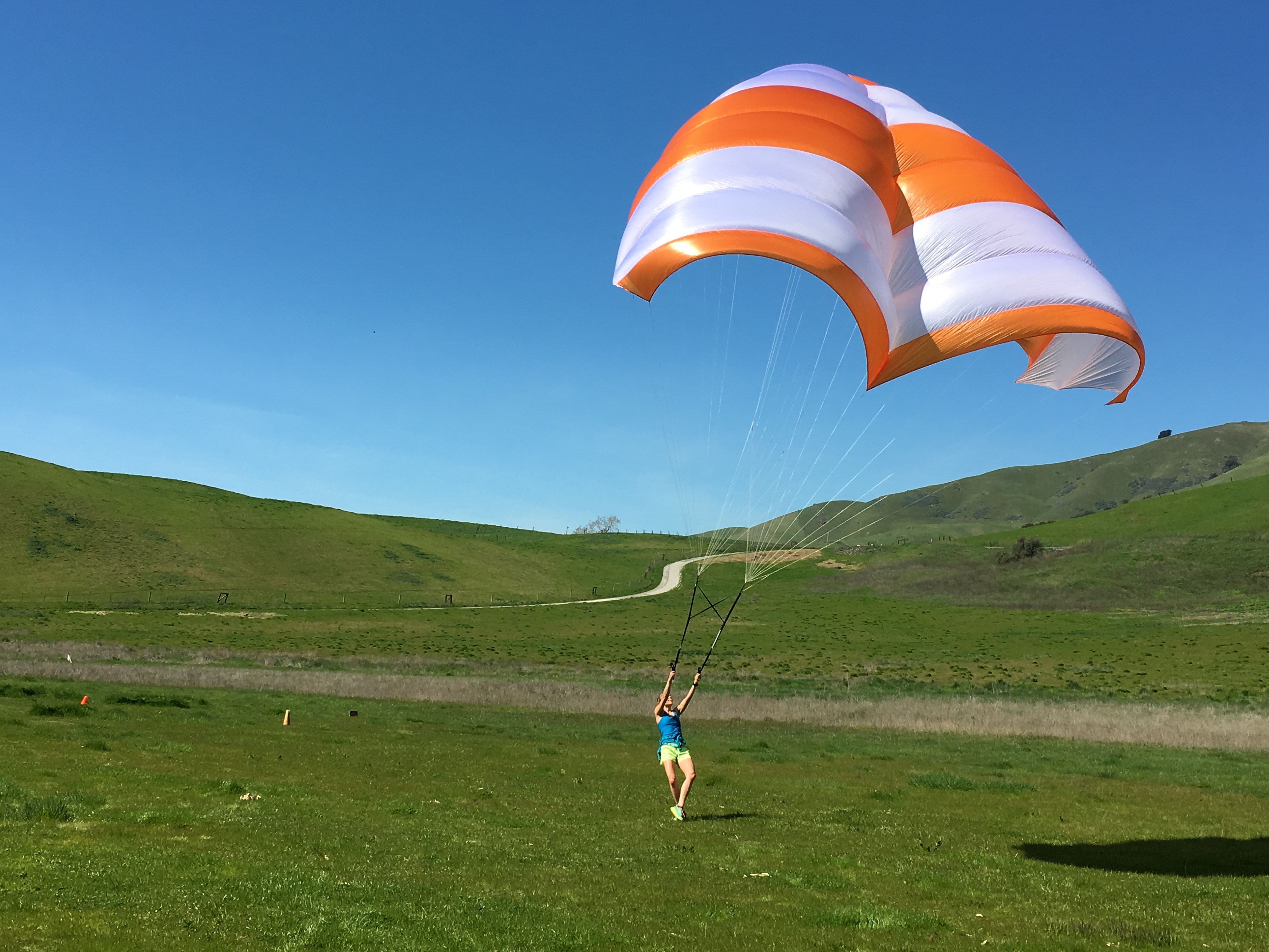 Kiting a rogallo reserve